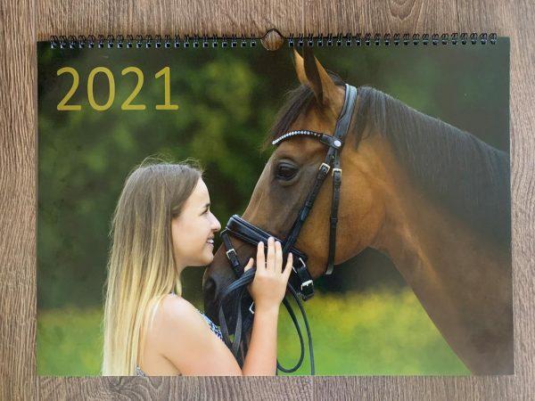 Cover Wandkalender 2021 Marina und die Ponys