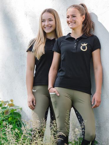 Marina und Julia tragen RoyalWinner Reitleggings von Royal Horsemen